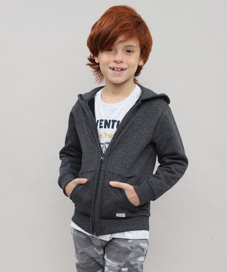 Blusao-Infantil-Basico-em-Moletom-com-Capuz-Cinza-Mescla-Escuro-8249882-Cinza_Mescla_Escuro_1