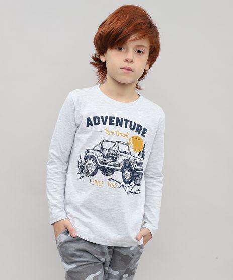 Camiseta-Infantil-com-Estampa--Adventure--Manga-Longa-Cinza-Mescla-Claro-9504385-Cinza_Mescla_Claro_1