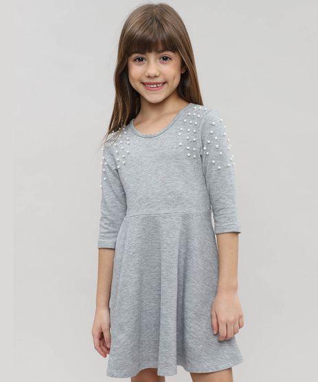 Vestido-Infantil-em-Moletom-com-Pedraria-Manga-Longa-Cinza-Mescla-9472056-Cinza_Mescla_1