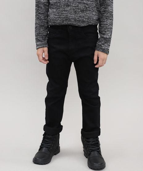 Calca-Jeans-Infantil-com-Bolsos-Preta-9528661-Preto_1