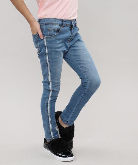 Calca-Jeans-Infantil-com-Faixa-Lateral-de-Brilho-Jeans-Medio-9416215-Jeans_Medio_1