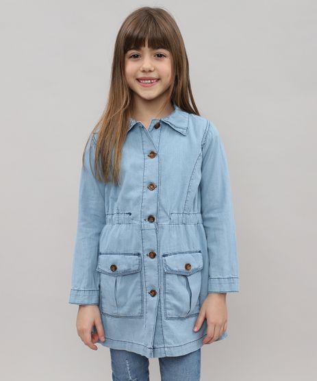 Parka-Jeans-Infantil-com-Bolsos-Azul-Claro-9476240-Azul_Claro_1