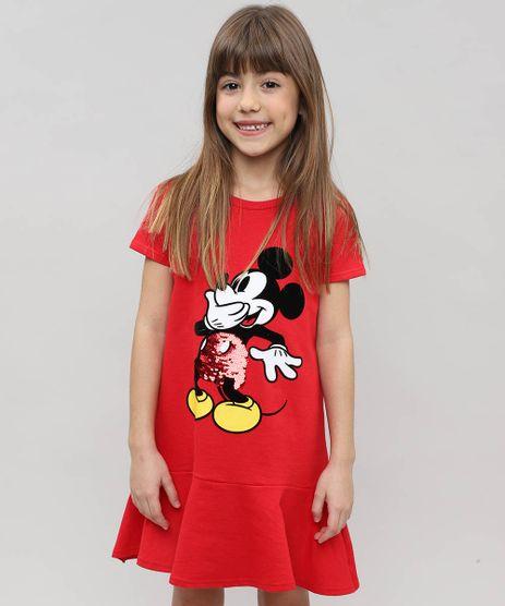 Vestido-Infantil-Mickey-em-Moletom-com-Capuz-e-Paete-Vermelho-9472060-Vermelho_1