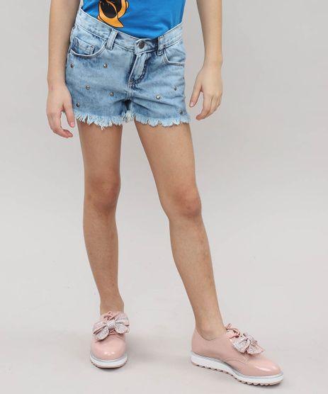 Short-Feminino-Infantil-com-Tachas-Jeans-Claro-9541171-Jeans_Claro_1