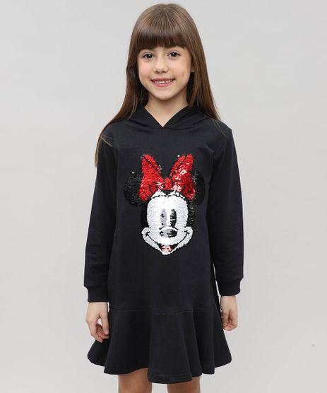 Vestido-Infantil-Minnie-em-Moletom-com-Capuz-e-Paete-Preto-9472058-Preto_1