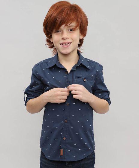 Camisa-Infantil-Estampada-Geometrica-com-Bolso-Manga-Longa-Azul-Marinho-9382074-Azul_Marinho_1