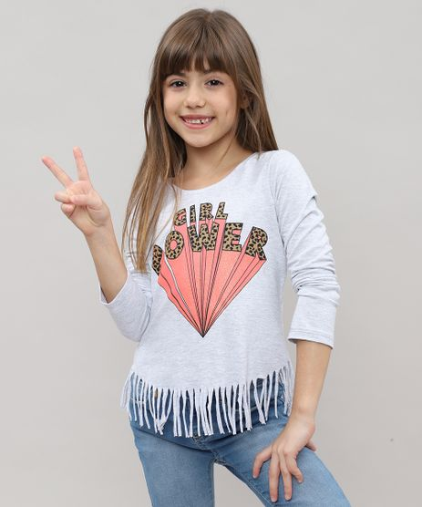 04d7120bd Blusa-Infantil--Girl-Power--com-Brilho-e-