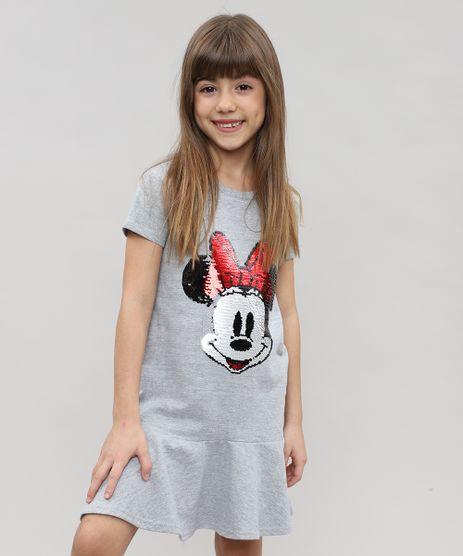 Vestido-Infantil-Minnie-em-Moletom-com-Capuz-e-Paetes-Cinza-Mescla-9472059-Cinza_Mescla_1
