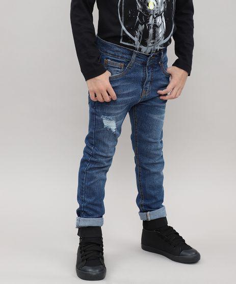 Calca-Jeans-Infantil-Destroyed-com-Bolsos-Azul-Medio-9528513-Azul_Medio_1