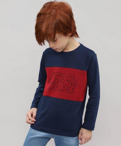 Camiseta-Infantil-Star-Wars-Manga-Longa-Azul-Marinho-9526005-Azul_Marinho_1