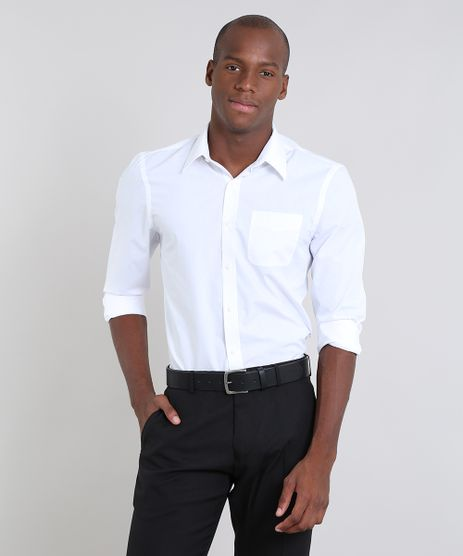 Camisa-Masculina-Comfort-com-Bolso-Manga-Branca-7591834-Branco_1