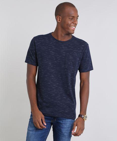 Camiseta-Masculina-em-Piquet-Flame-com-Bolso-Manga-Curta-Azul-Marinho-9504976-Azul_Marinho_1