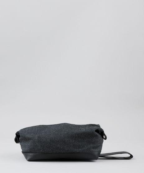 Necessaire-Masculina-em-Jeans-Preta-9540257-Preto_1