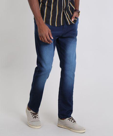 Calca-Jeans-Masculina-Jogger-com-Bolsos-Azul-Escuro-9467794-Azul_Escuro_1