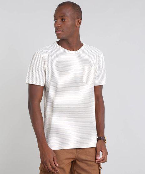 Camiseta-Masculina-em-Piquet-Listrada-com-Bolso-Manga-Curta-Off-White-9504978-Off_White_1