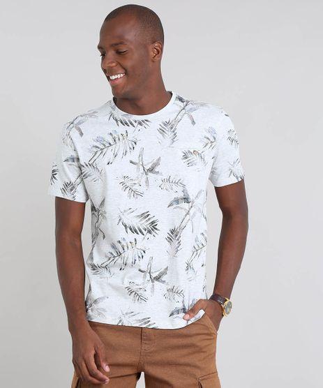 Camiseta-Masculina-Estampada-Folhagem-com-Bolso-Manga-Curta-Cinza-Mescla-Claro-9410909-Cinza_Mescla_Claro_1