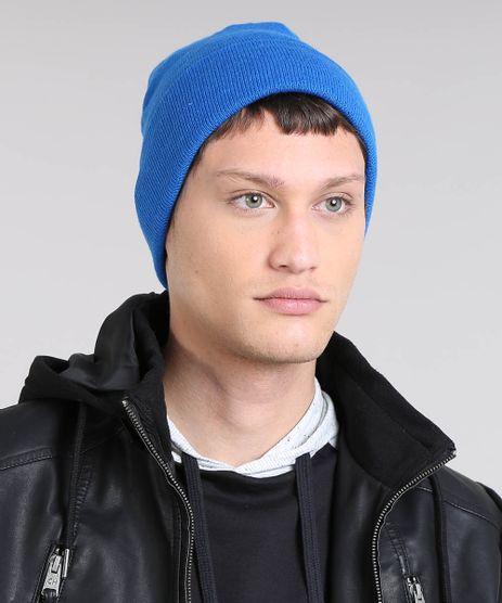 Gorro-Masculino-Basico-em-Trico-Azul-9465063-Azul_1