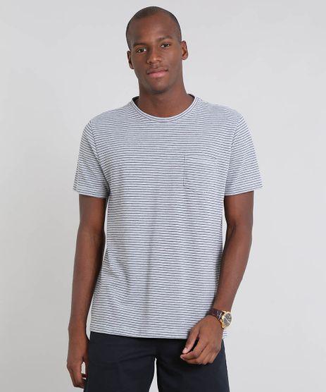 Camiseta-Masculina-em-Piquet-Listrada-com-Bolso-Manga-Curta-Cinza-Mescla-9504978-Cinza_Mescla_1