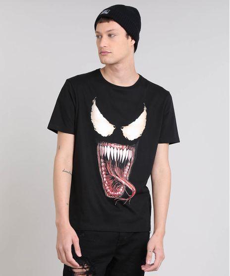 Camiseta-Masculina-Os-Vingadores-Venom-Curta-Decote-Redondo-Preta-9512387-Preto_1