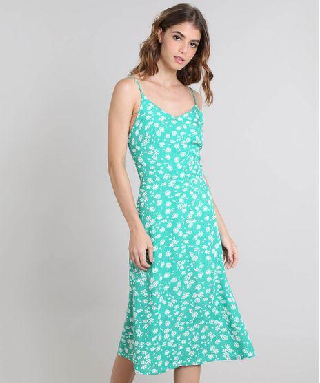 fc68bd6b9 Vestido-Feminino-Mindset-Estampado-Floral-com-Alcas-Verde-