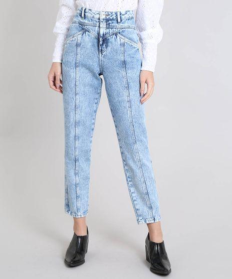 Calca-Jeans-Feminina-Mindset-Mom-Pants-Com-Recortes-Cintura-Alta-Azul-9582341-Azul_1