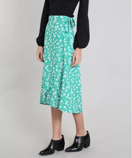 Saia-Envelope-Feminina-Mindset-Floral--Verde-9601048-Verde_1