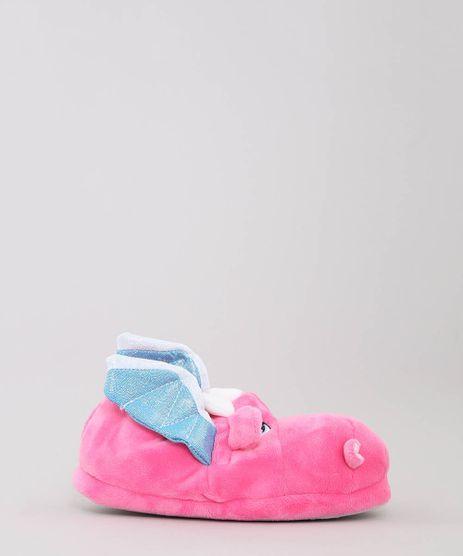 Pantufa-Infantil-Dragao-com-Brilho-Pink-9475235-Pink_1