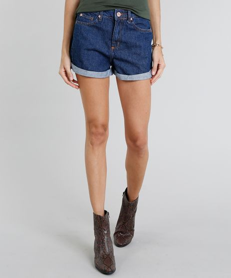 86ece7f82a5ea Short-Jeans-Feminino-Mom-Vintage-Azul-Medio-9274696-
