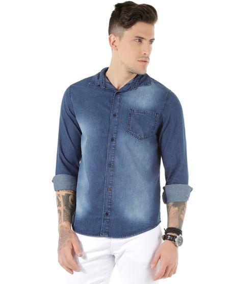 794f784a00 Camisa-Jeans-Azul-Escuro-8439294-Azul Escuro 1