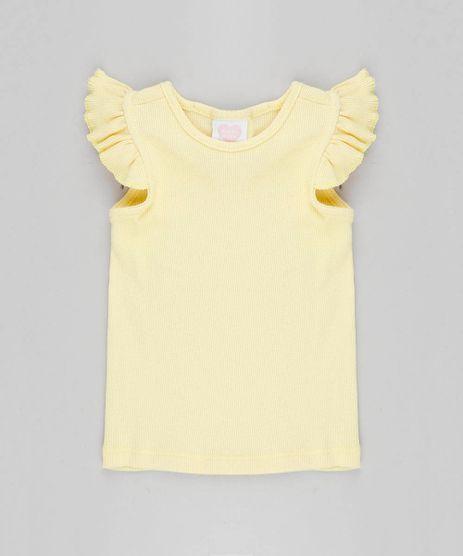 Regata-Infantil-Basica-Canelada-com-Babados-Amarelo-Claro-8709896-Amarelo_Claro_1