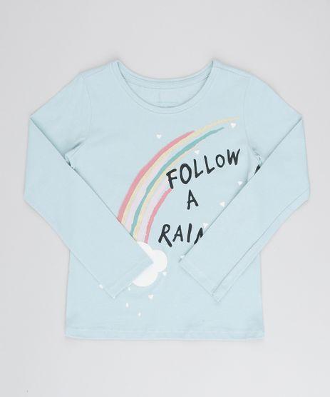 Blusa-Infantil-com-Estampa-Metalizada--Rainbow--Manga-Longa-Azul-Claro-9539940-Azul_Claro_1