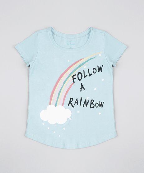 Blusa-Infantil-com-Estampa-Metalizada--Rainbow--Manga-Curta-Azul-Claro-9539934-Azul_Claro_1