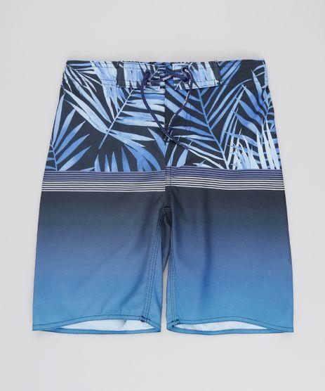 Bermuda-Surf-Infantil-Estampada-Folhagens-com-Cordao-Azul-9536287-Azul_1