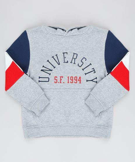Blusao-Infantil--University--com-Recortes-e-Capuz-em-Moletom--Cinza-Mescla-9376814-Cinza_Mescla_1
