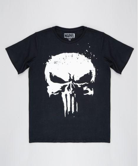 b925bd77880 Camiseta Infantil O Justiceiro Manga Curta Gola Careca Preta - cea