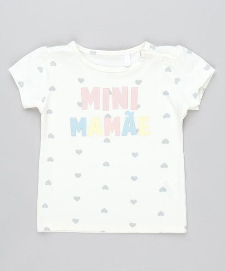 Camiseta-Infantil--Minnie-Mamae--Estampada-com-Coracao-Manga-Curta-Amarelo-Claro-9545651-Amarelo_Claro_1
