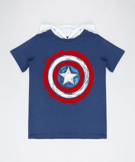 Camiseta-Infantil-Capitao-America-com-Capuz-Manga-Curta-Azul-Marinho-9542311-Azul_Marinho_1