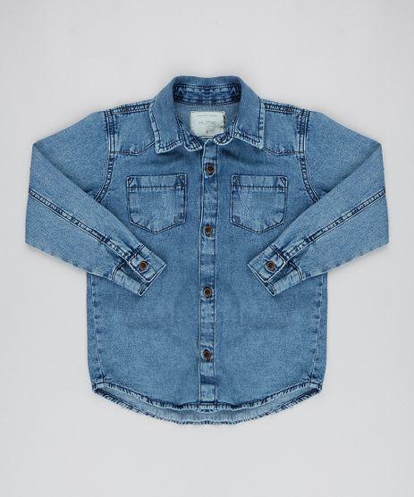 Camisa-Jeans-Infantil-com-Bolsos-Manga-Longa-Azul-Medio-9539016-Azul_Medio_1