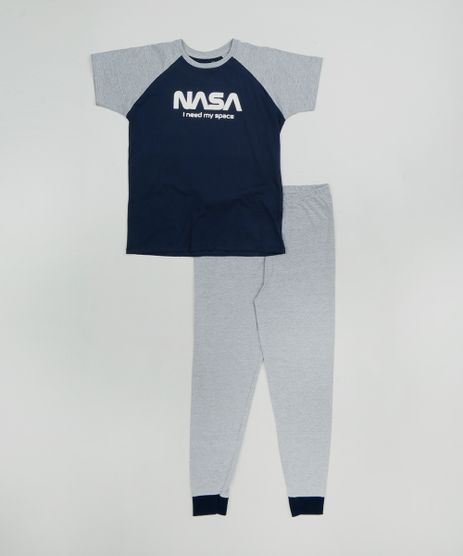 Pijama-Infantil-Lunar--I-Need-my-Space--Manga-Curta-Azul-Marinho-9476472-Azul_Marinho_1