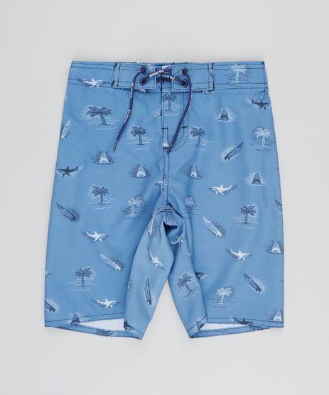 Bermuda-Surf-Infantil-Estampada-Maritima-com-Cordao-Azul-9536376-Azul_1