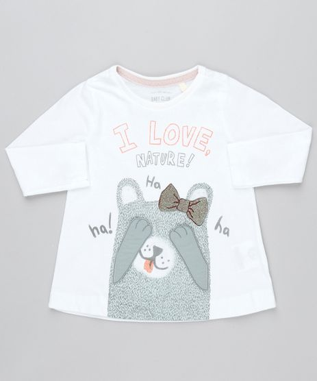 Camiseta-Infantil-Ursinho--I-Love-Nature--com-Velcro-Manga-Longa-Off-White-9471881-Off_White_1