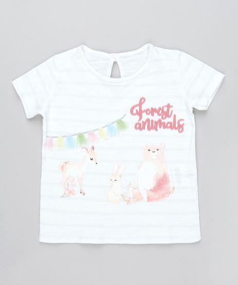 Camiseta-Infantil-com-Bordado--Forest-Animals--Manga-Curta-Off-White-9471148-Off_White_1