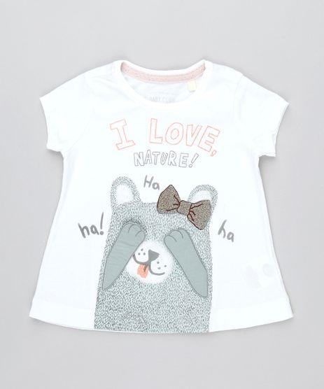 Camiseta-Infantil-Ursinho--I-Love-Nature--com-Velcro-Manga-Curta-Off-White-9471880-Off_White_1