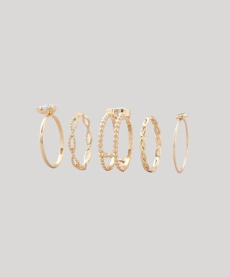 Kit-de-5-Aneis-Feminino-com-Strass-Dourado-9427672-Dourado_1