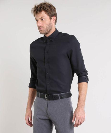 Camisa-Masculina-Comfort-Texturizada-Manga-Longa-Preta-9249823-Preto_1