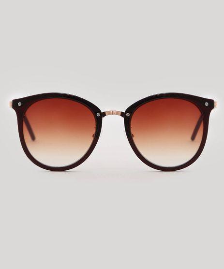 283b0ff9a Oculos-de-Sol-Redondo-Feminino-oneself-Marrom-9566208-