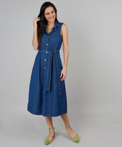 Vestido-Jeans-Feminino-Midi-Sem-Manga-Azul-Escuro-9539279-Azul_Escuro_1