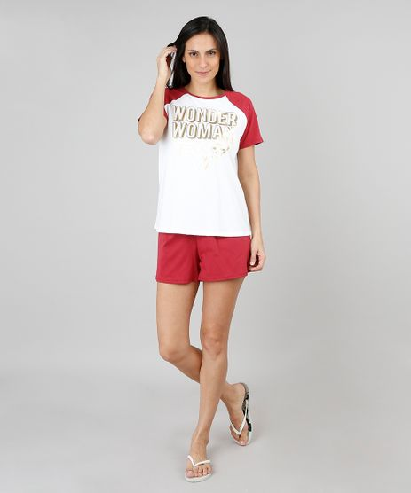 Pijama-Feminino-Mulher-Maravilha-Raglan-Manga-Curta-Off-White-9547553-Off_White_1