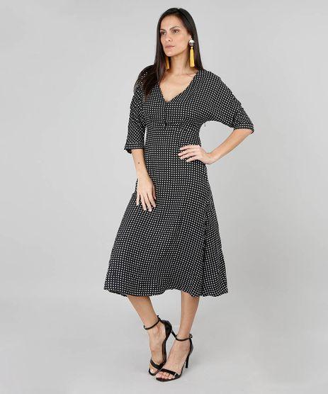 Vestido-Feminino-Midi-Estampado-Poa-Manga-3-4-Preto-9444186-Preto_1