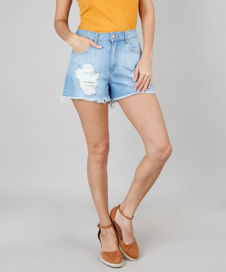 Short-Jeans-Feminino-Vintage-Destroyed-Azul-Claro-9546741-Azul_Claro_1